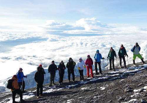 Группа и льды Килиманджаро