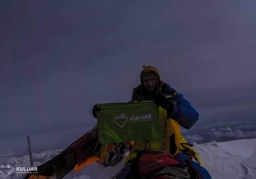 Тарас Поздний на вершине Эвереста
